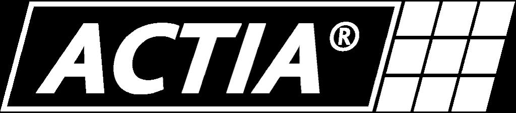 logo actia, logo actia white